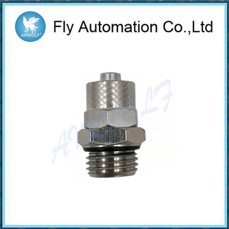 Metric Male Pneumatic Connectors Fittings 1511 Series -20°c - 80°c With O Ring