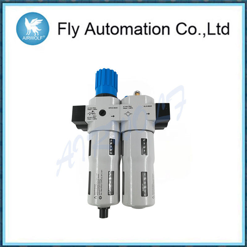 Air Control Air Pneumatic Regulator , White Drain Type Pneumatic Air Preparation
